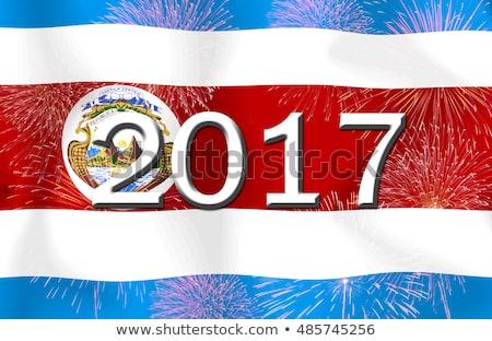 флаг · Коста-Рика · иллюстрация · сложенный · Мир · металл - Сток-фото © michaklootwijk
