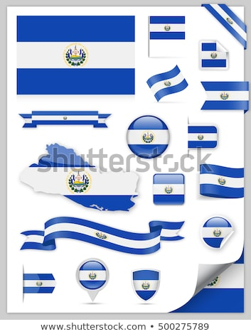 Map on flag button of Republic of El Salvador Stock photo © Istanbul2009