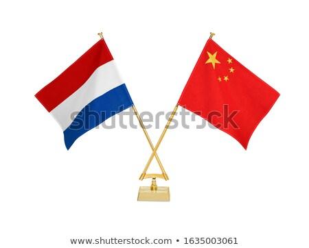china and netherlands   miniature flags stock photo © tashatuvango