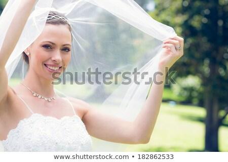Bruid tuin glimlachend jonge vrouw bruiloft Stockfoto © wavebreak_media