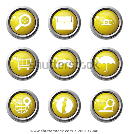 SEO Internet Sign Yellow Vector ButtonIcon Design Set 10 Stock photo © rizwanali3d