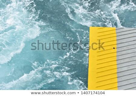 желтый синий контраст металл волны вектора Сток-фото © saicle