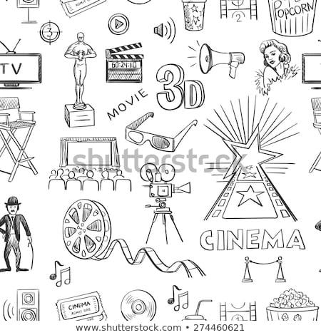 cine · garabatos · ilustración · formato · eps - foto stock © netkov1