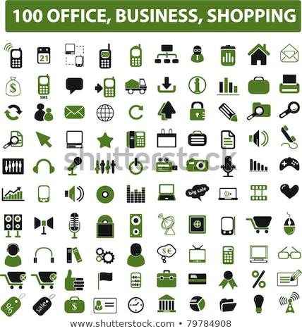 Pogotowia zielone wektora ikona przycisk Internetu Zdjęcia stock © rizwanali3d