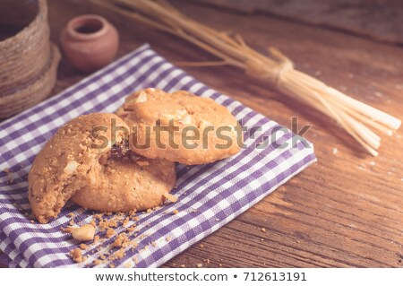 oat milk, rolled oats and digestive cookies Stock photo © nito