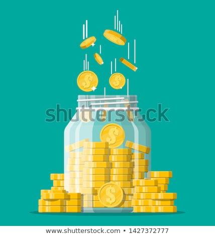 Adományoz arany vektor ikon terv digitális Stock fotó © rizwanali3d
