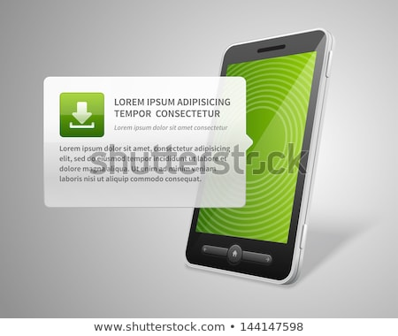Verde o ícone do vetor projeto tecnologia digital Foto stock © rizwanali3d