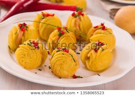 ジャガイモ クリーミー チーズ プレート クリーム ストックフォト © Digifoodstock