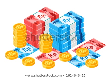 Indonesian money rupiah banknote and coins Stock photo © CaptureLight