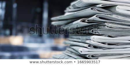 Jornal escrito texto sombra fundo Foto stock © mayboro1964