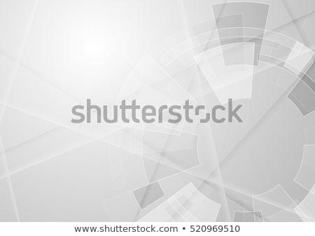 Gri en az teknoloji çizgili soyut vektör Stok fotoğraf © saicle