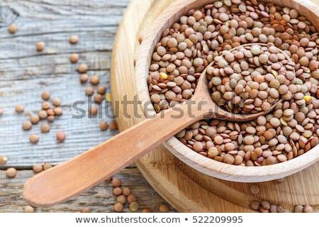 organik · kurutulmuş · kişniş · tohumları · seramik · çanak - stok fotoğraf © digifoodstock
