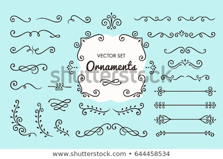 ornamento · corona · acuarela · flores · hojas · blanco - foto stock © imaginative