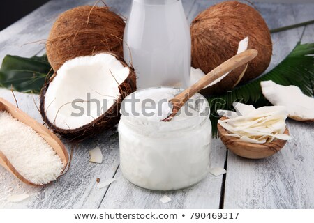 Coconut oil and flakes Stock photo © Lana_M