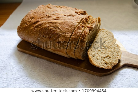 Házi kenyér cipó izolált fehér étel Stock fotó © FOKA