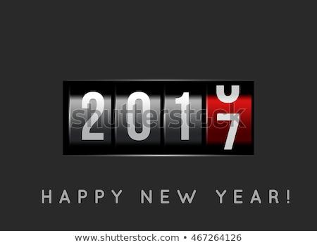 Nieuwjaar counter 2016 macht knop gelukkig Stockfoto © m_pavlov