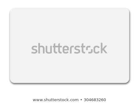 blank plastic card Stock photo © magann