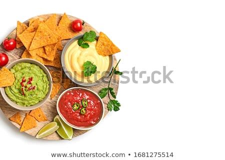 Bowl of Guacamole Stock photo © Digifoodstock