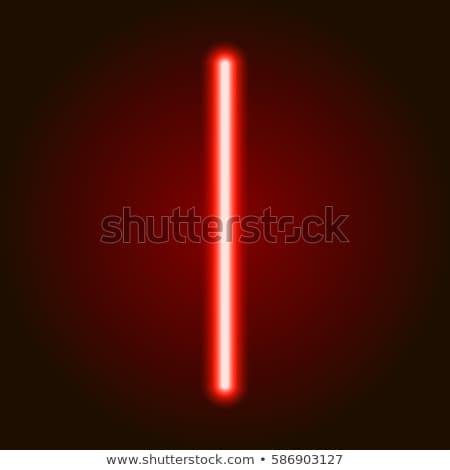 неоновых красный свет знак белый кирпича стены Сток-фото © klss