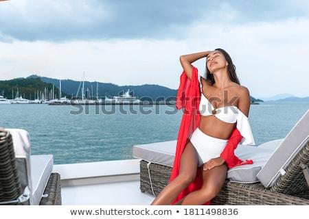 женщину · яхта · молодые · привлекательный · чувственность · Sexy - Сток-фото © bartekwardziak