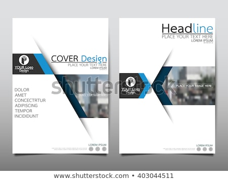 modern booklet cover page design template with abstract blue sha Stock photo © SArts