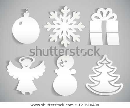 karácsonyfa · kekszek · étel · csillagok · karácsony · édesség - stock fotó © digifoodstock
