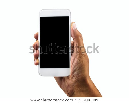 Male showing cell phone black screen Stock photo © Giulio_Fornasar