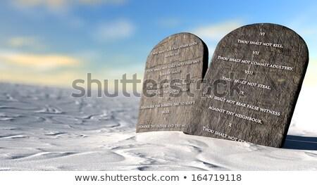 Stockfoto: Ten Commandments Standing In The Desert