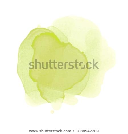Stock fotó: Klassz · zöld · vízfesték · textúra · kéz · festék