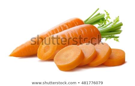 carotte · nouvellement · augmenté · laisse · blanche · nature - photo stock © ajt