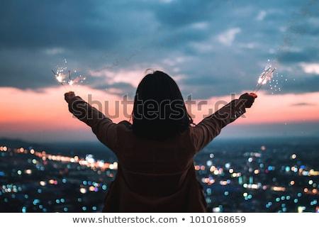Jong meisje sterretje home jonge Stockfoto © przemekklos