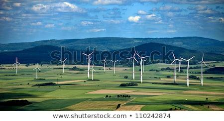 panorâmico · ver · vento · céu · grama · natureza - foto stock © meinzahn
