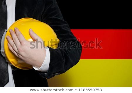 Budowy pracy Niemcy domu niebieski przemysłu Zdjęcia stock © haraldmuc