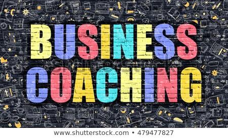 ビジネス コーチング 暗い 現代 実例 ストックフォト © tashatuvango