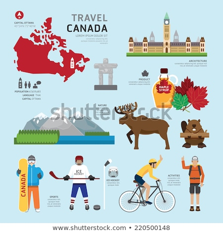 silhouette Concept of traveling to Canada i Stock photo © Olena