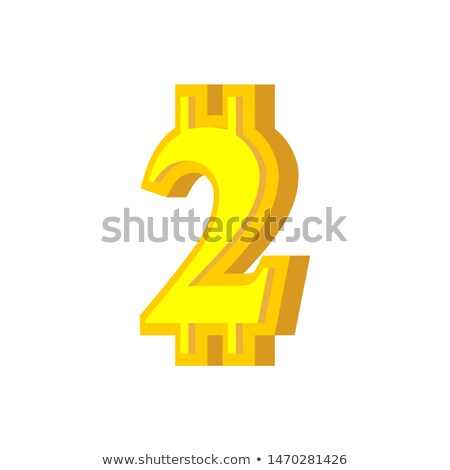 2 numeral bitcoin font. Two numeric Crypto currency alphabet. Le Stock photo © popaukropa