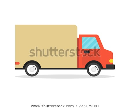 Commercial delivery truck isolated icon Stock photo © studioworkstock