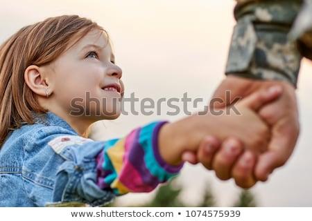 Güven asker beyaz adam bayrak Stok fotoğraf © wavebreak_media