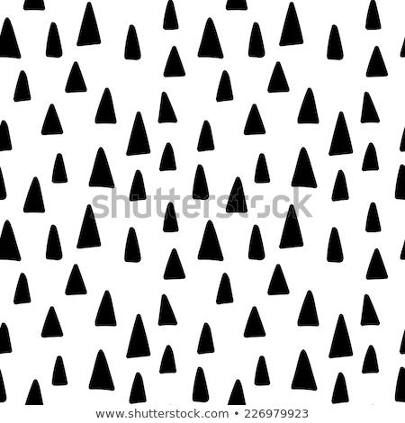 Geometrik karalama hatları model siyah beyaz Stok fotoğraf © Samolevsky