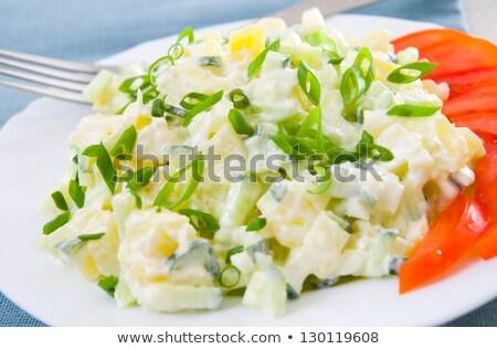 potato salad with tomato Stock photo © M-studio