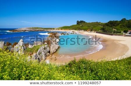Plaży Hiszpania niebo lata ocean piasku Zdjęcia stock © lunamarina