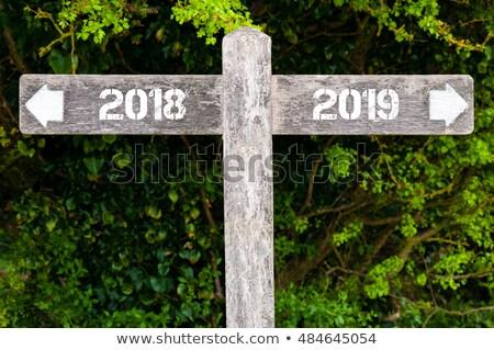új év szimbólum zöld 3d illusztráció naptár idő Stock fotó © MikhailMishchenko