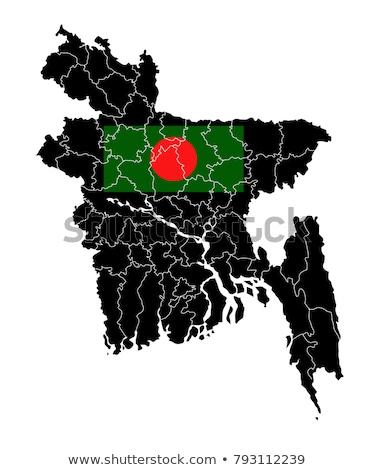 Banglades térkép ikon vektor terv felirat Stock fotó © blaskorizov
