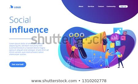 Atterraggio pagina marketing specialista altoparlante influenzare Foto d'archivio © RAStudio