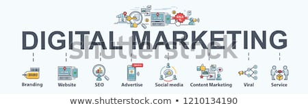 Marketing concept banner header. Stock photo © RAStudio