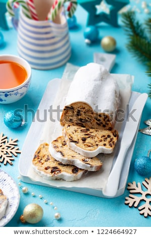 christmas stollen cake stock photo © yuliyagontar
