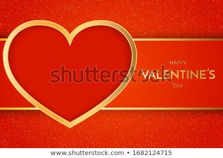Prémium szív terv piros szeretet absztrakt Stock fotó © SArts
