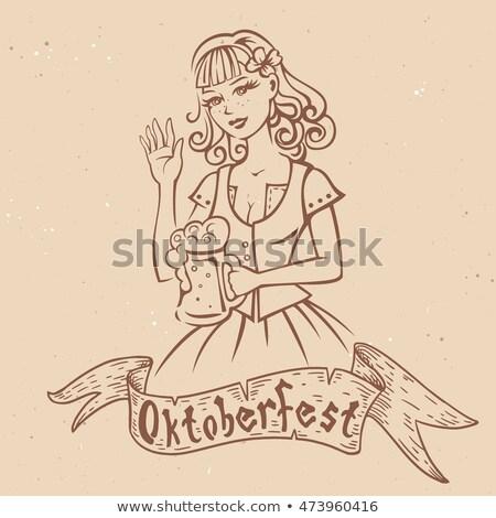 漫画 オクトーバーフェスト 女性 実例 ストックフォト © cthoman