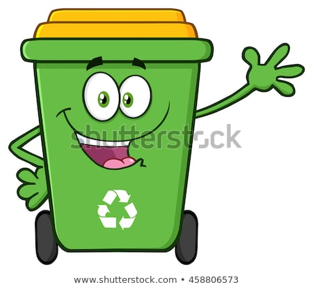 Green Recycle Bin Cartoon Stock photo © hittoon
