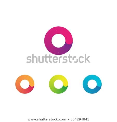 Kırmızı mavi logo mektup simge ikon Stok fotoğraf © blaskorizov